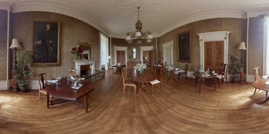 360 degree image captured from a video of Raemoir House hotel